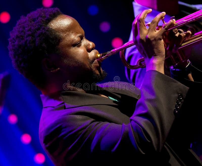 Ambrose Akinmusire Quintet esegue in tensione su ventottesima April Jazz fotografia stock
