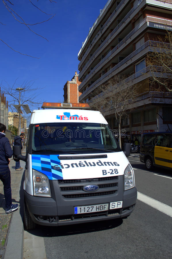 Ambulância de Barcelona imagem de stock royalty free