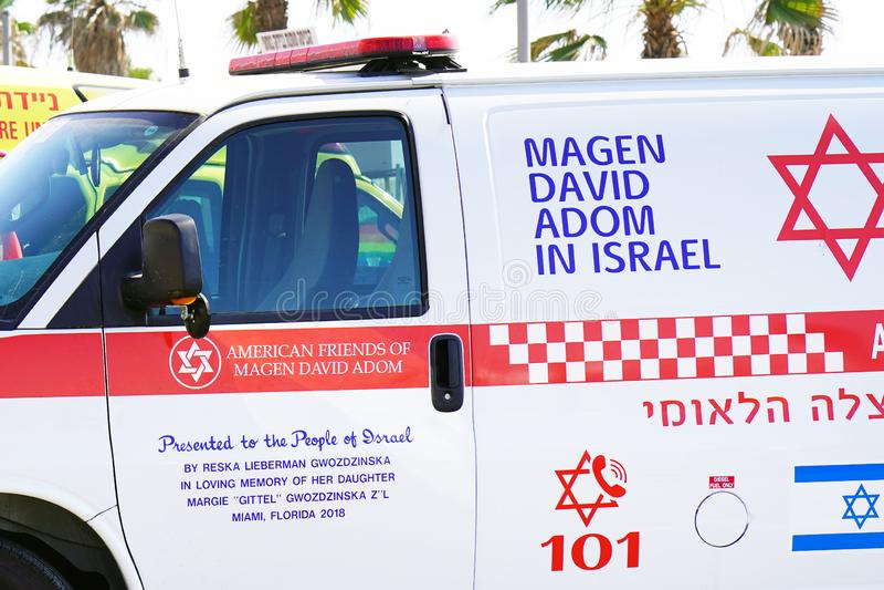 Ambulância do carro em Israel fotos de stock royalty free