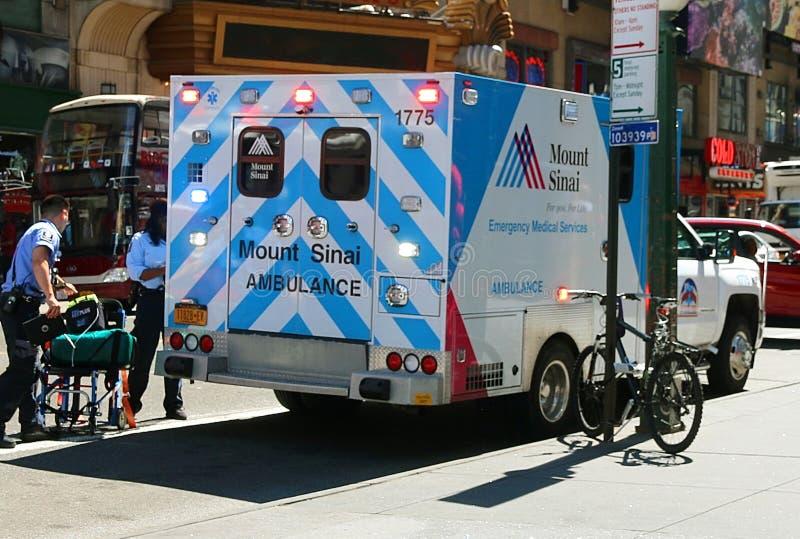 Ambulância do monte Sinai imagem de stock royalty free