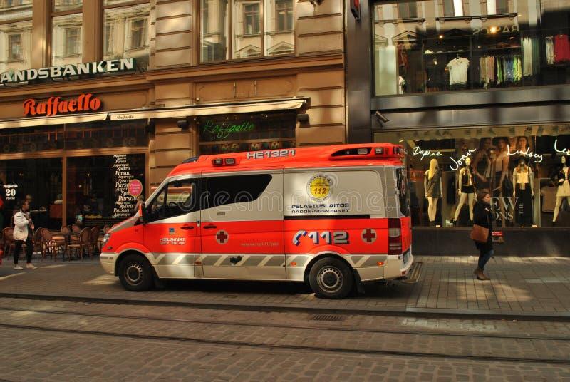 Ambulância em Helsínquia fotografia de stock royalty free