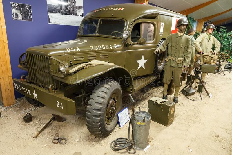 Ambulância EUA de WWII imagens de stock royalty free