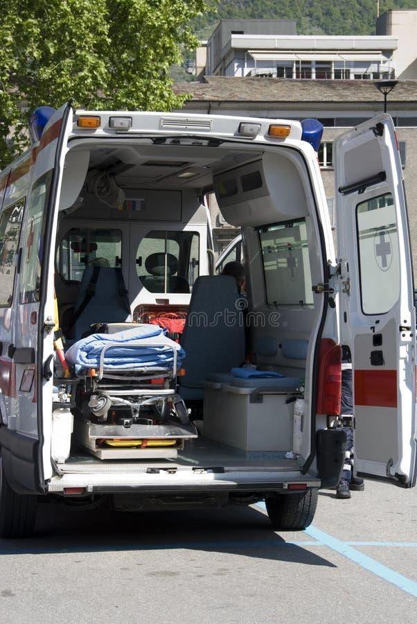 Ambulância interior imagens de stock