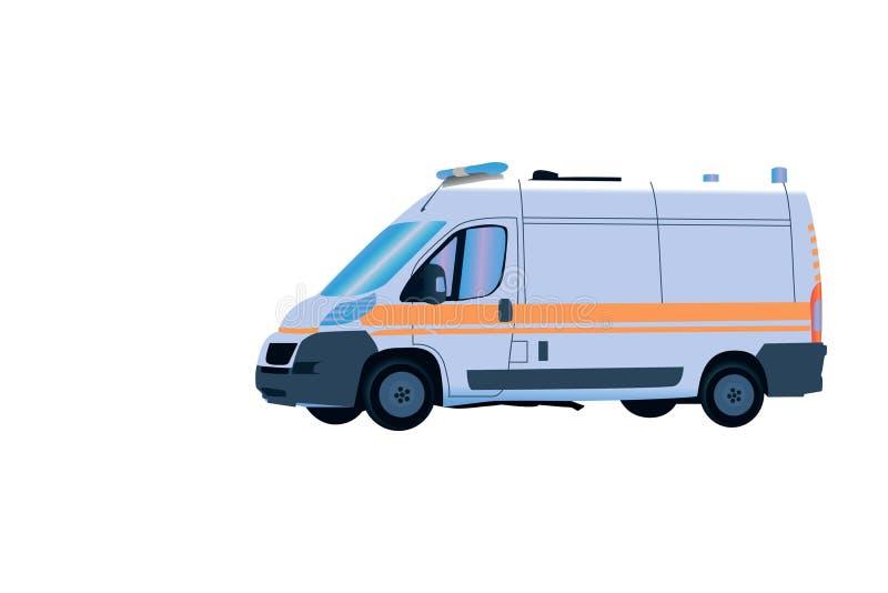 Ambulance à l'appel d'urgence dans la tache floue de mouvement illustration de vecteur