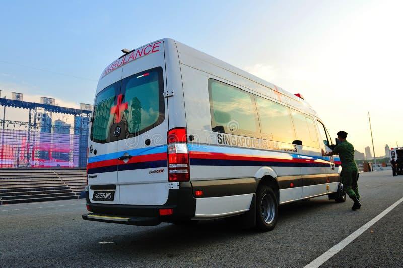 Ambulance à NDP 2011 images libres de droits