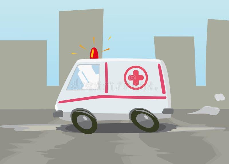 Ambulance royalty free illustration
