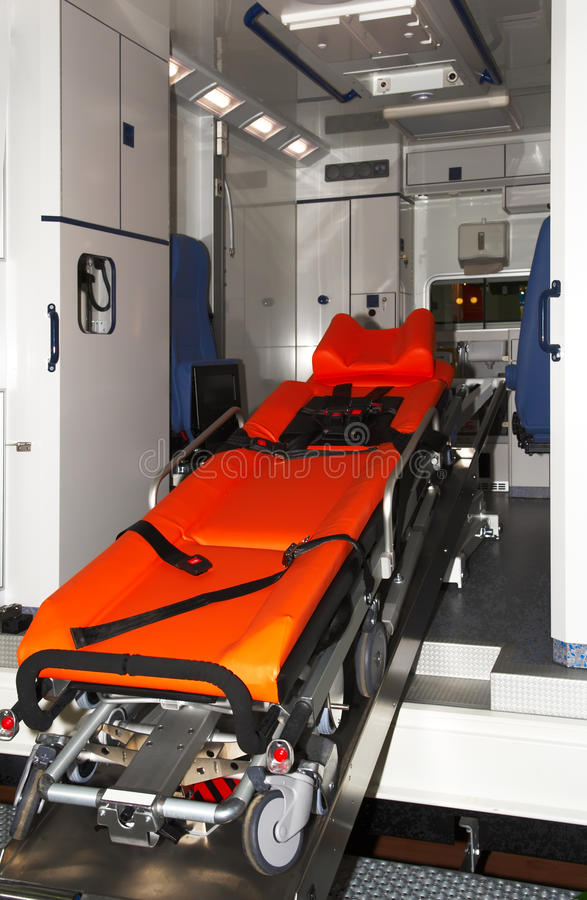 Ambulance. And equipment. Healthcare. Medical stock photography