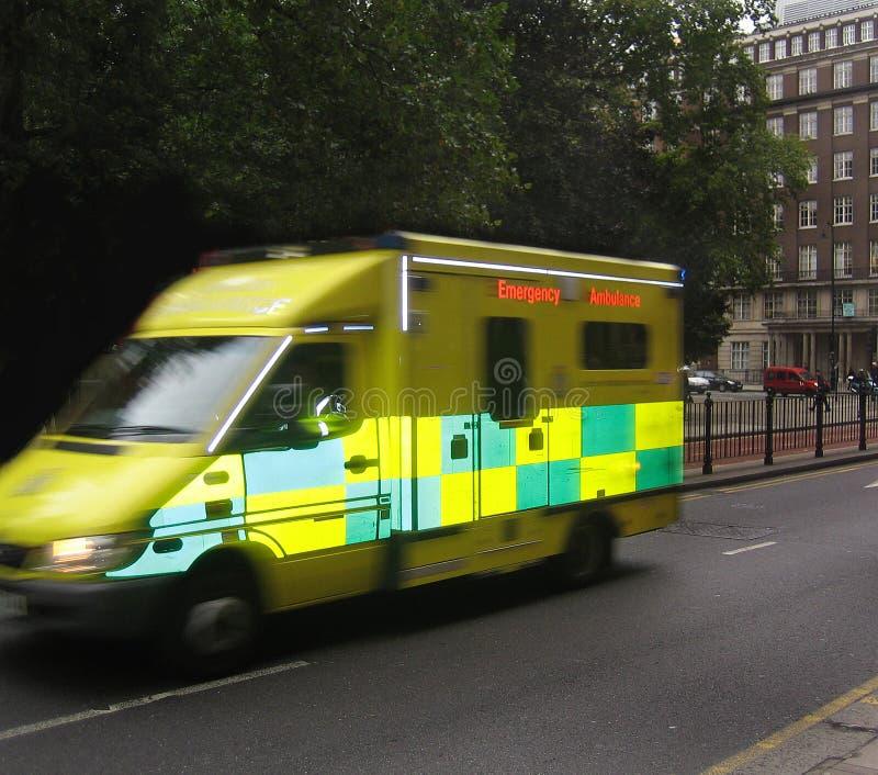 Ambulance. Emergency ambulance driving fast in London, England stock image