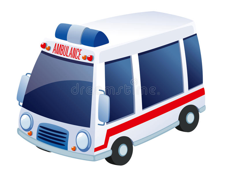 Ambulance. Illustration of Ambulance on white royalty free illustration