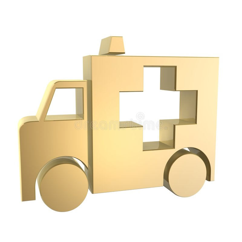 Ambulance. Symbol vector illustration