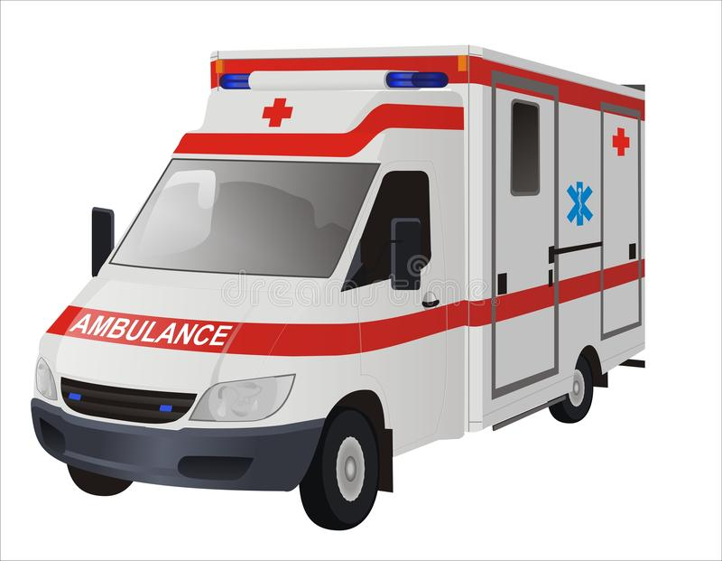 Ambulance. Mini bus Vector illustration vector illustration