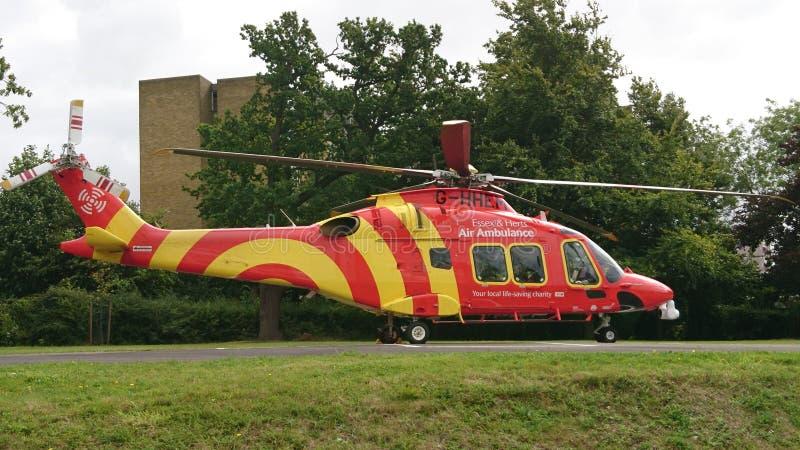Ambulance aérienne image stock
