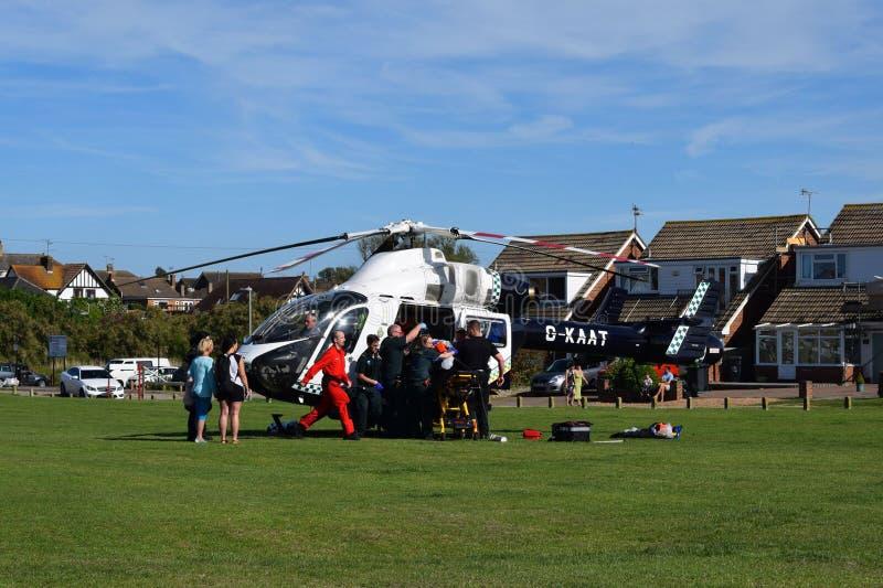 Ambulance aérienne d'Emergancy images stock