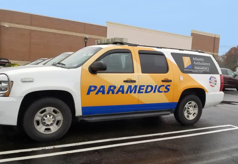 Ambulance ambulancière de l'Atlantique images stock