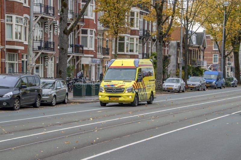 Ambulance At Amsterdam The Netherlands 2018.  stock photography