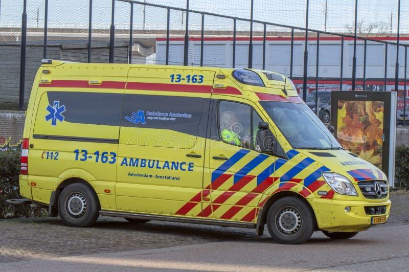 Ambulance At Amsterdam The Netherlands 2019.  stock photo