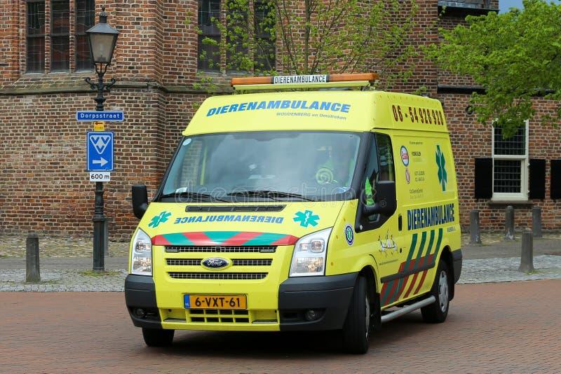Ambulance animale néerlandaise photo stock