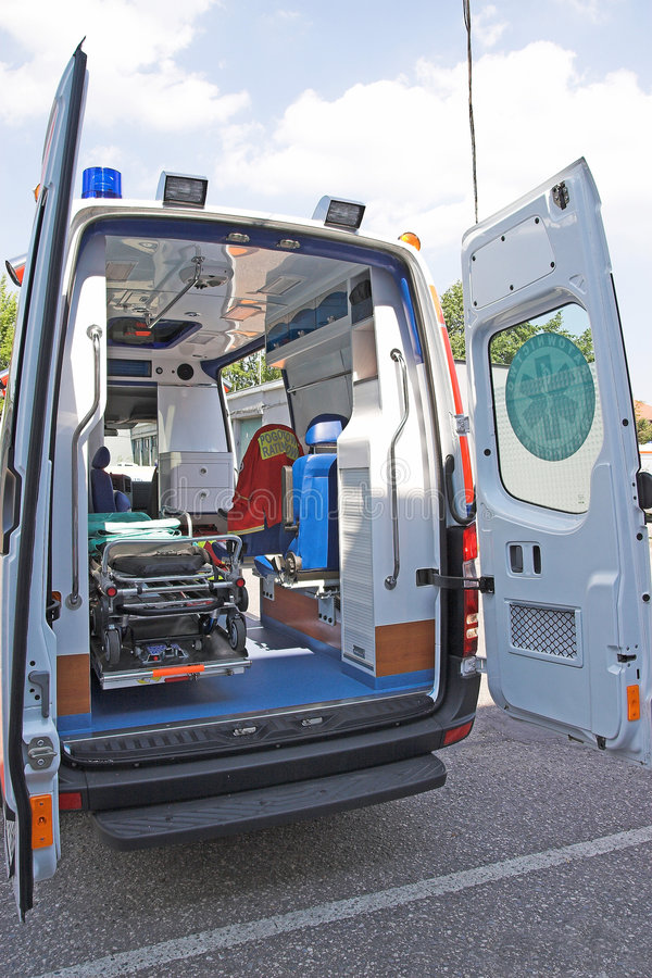 Ambulance back stock photography