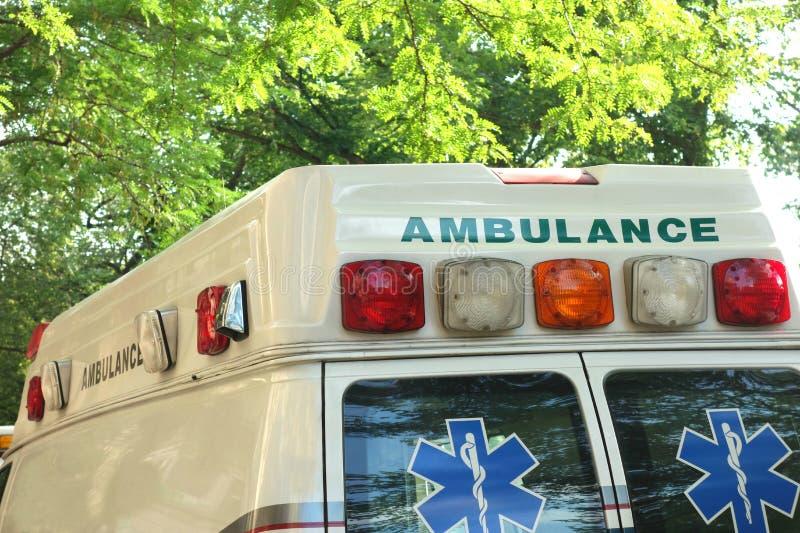 Ambulance. The back of an ambulance stock photos