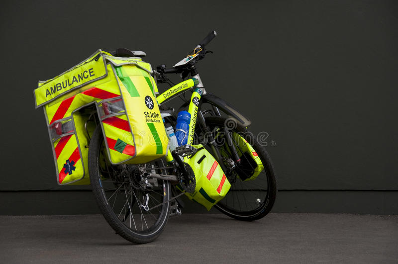 Ambulance bicycle royalty free stock photography