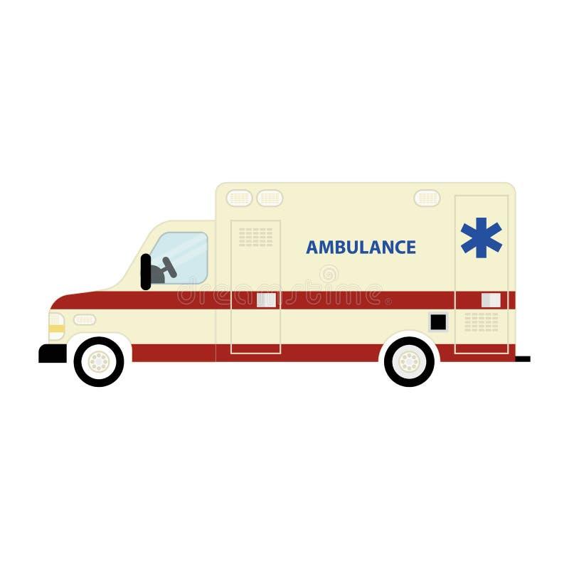 Ambulance bus icon royalty free illustration