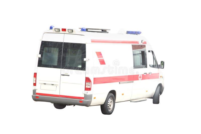 Ambulance car. Under the white background stock image