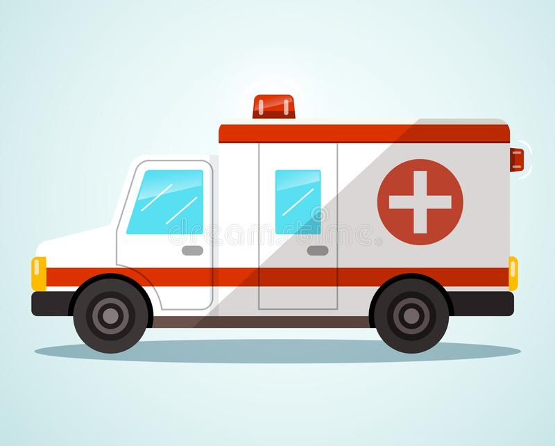 Ambulance Car. Flat Design Illustration. Ambulance Car. Flat Design Vector Illustration royalty free illustration