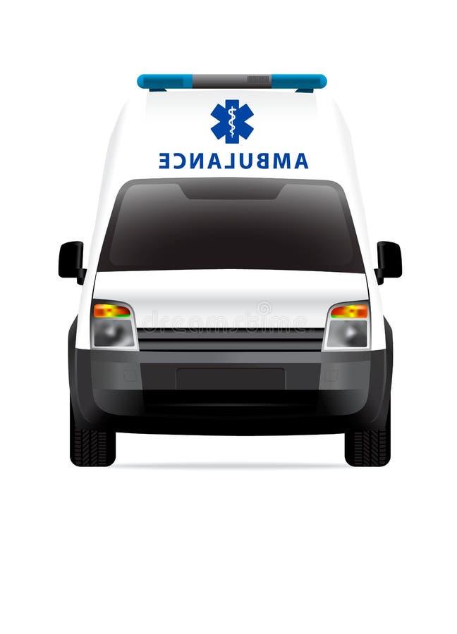 Download Ambulance car front view stock illustration. Illustration of transportation - 23284166