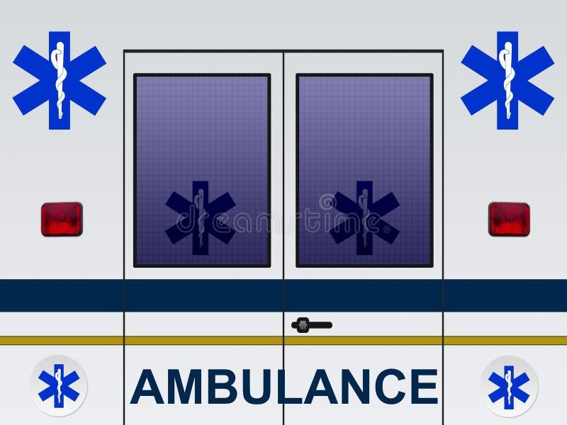 Ambulance car illustration stock illustration