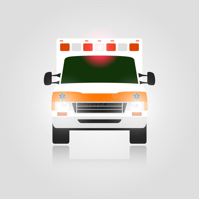 Ambulance car. With lights. Vector illustration royalty free illustration