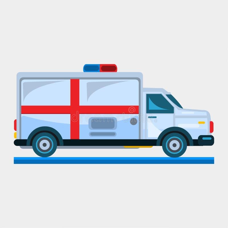 Ambulance car vector illustration stock illustration