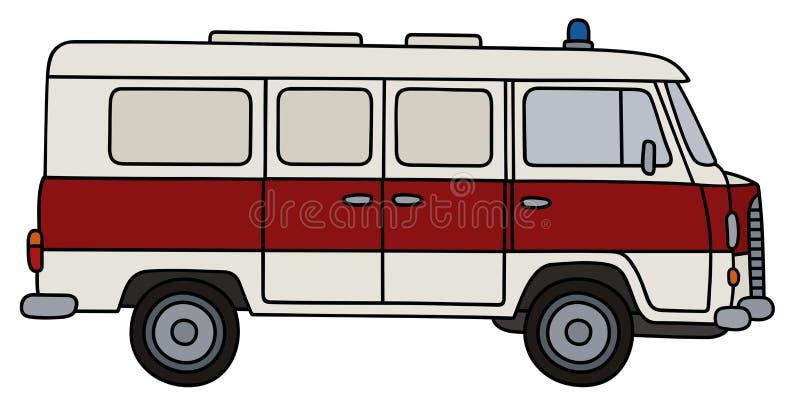 Ambulance classique illustration de vecteur