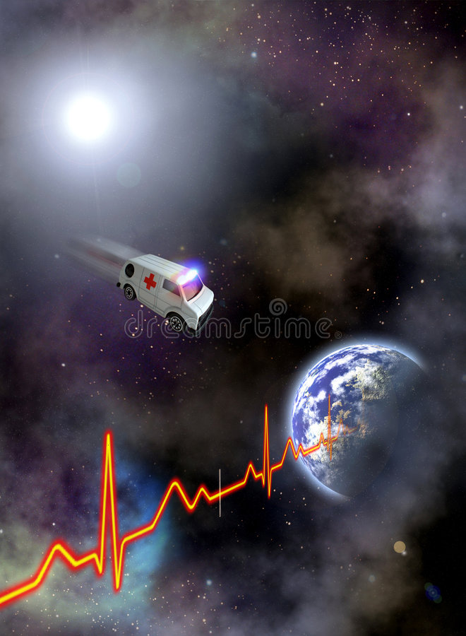 Earth In The Ambulance Stock Photo Image Of Cosmos
