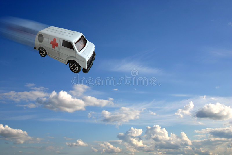 Ambulance concept stock photo