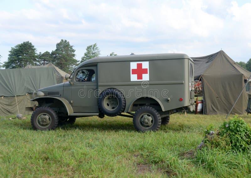 Ambulance d'ère de la deuxième guerre mondiale images stock