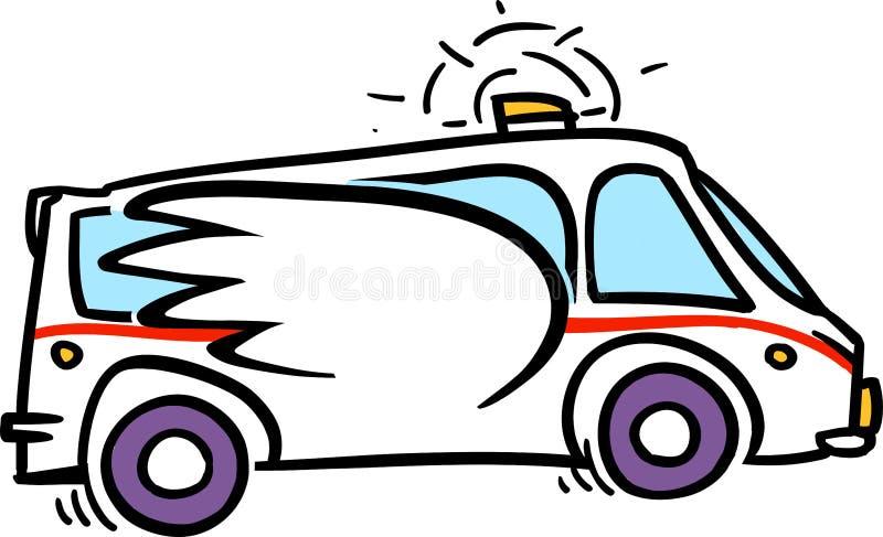 Ambulance de secours illustration libre de droits