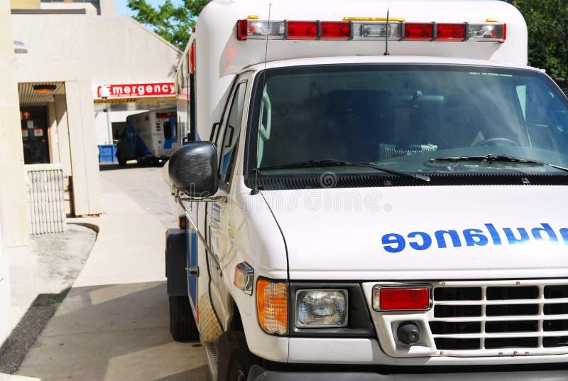 Ambulance at emergency stock image
