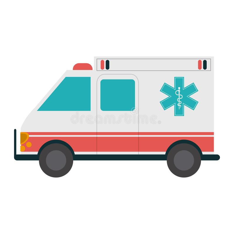 Ambulance emergency vehicle. Isolated vector illustration graphic design vector illustration