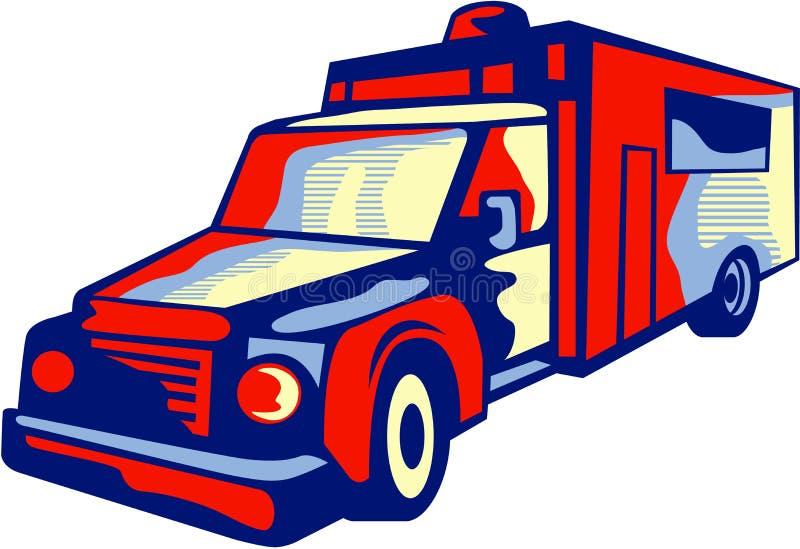 Ambulance Emergency Vehicle Retro royalty free illustration