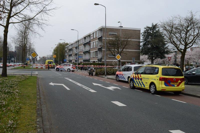 Ambulance et police néerlandaises image stock