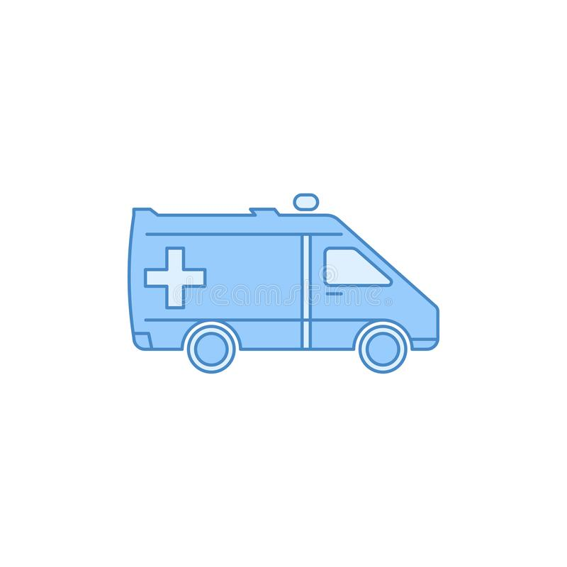 ambulance filled outline icon. Element of transport icon for mobile concept and web apps. Thin line ambulance filled outline icon stock illustration