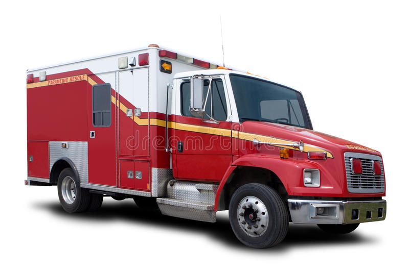 Ambulance Fire Rescue Truck. A Big Red Ambulance Fire Rescue Truck stock images