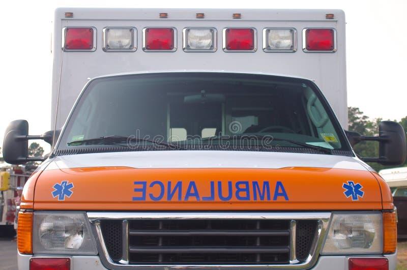 Ambulance front stock photo