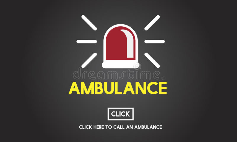 Ambulance Hospital Health Alertness Concept.  stock illustration
