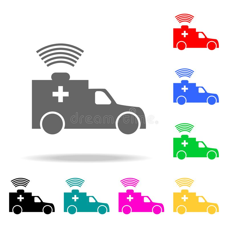 ambulance icon. Element firefighters multi colored icons for mobile concept and web apps. Icon for website design and development, royalty free illustration