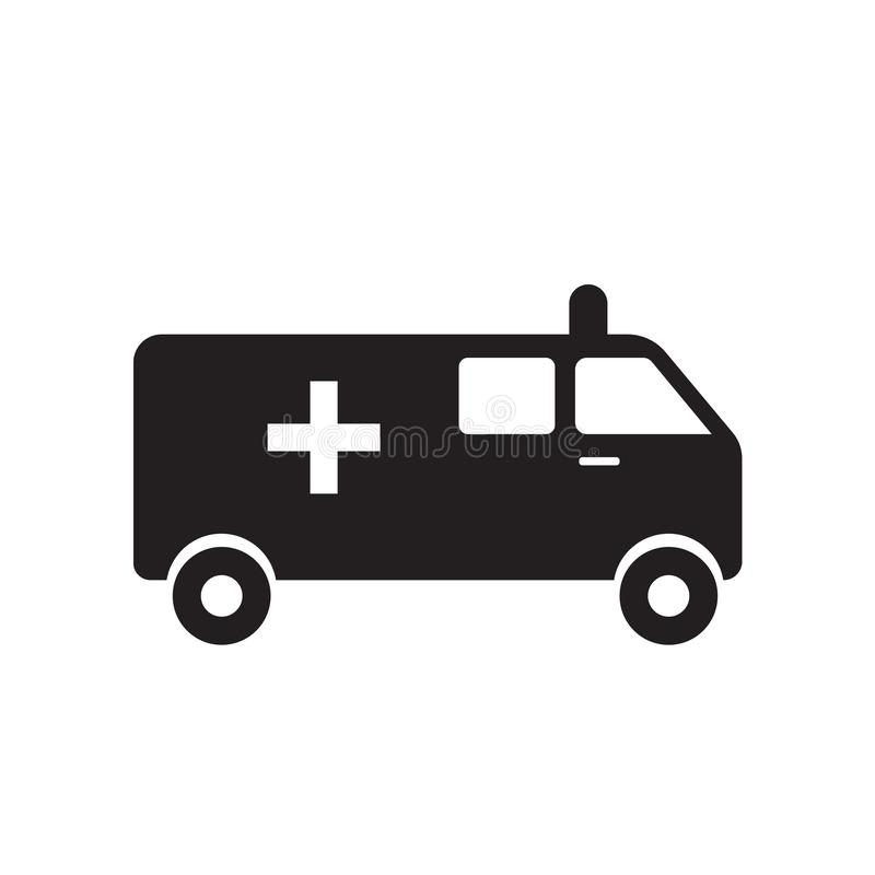 Ambulance icon vector isolated on white background, Ambulance sign , medical health symbols. Ambulance icon vector isolated on white background, Ambulance vector illustration