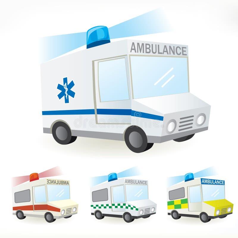 Ambulance icons royalty free stock photo