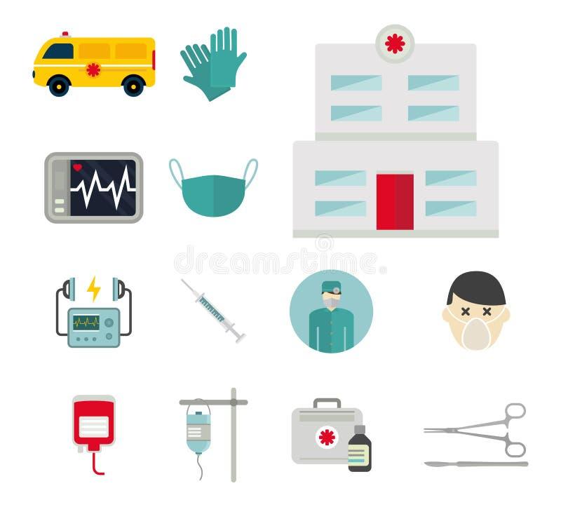 Ambulance icons vector medicine health emergency hospital urgent pharmacy pill support paramedic treatment. Ambulance icons vector set. Medicine health emergency stock illustration