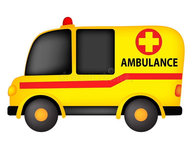 Ambulance. Illustration of a ambulance isolated on white background stock illustration