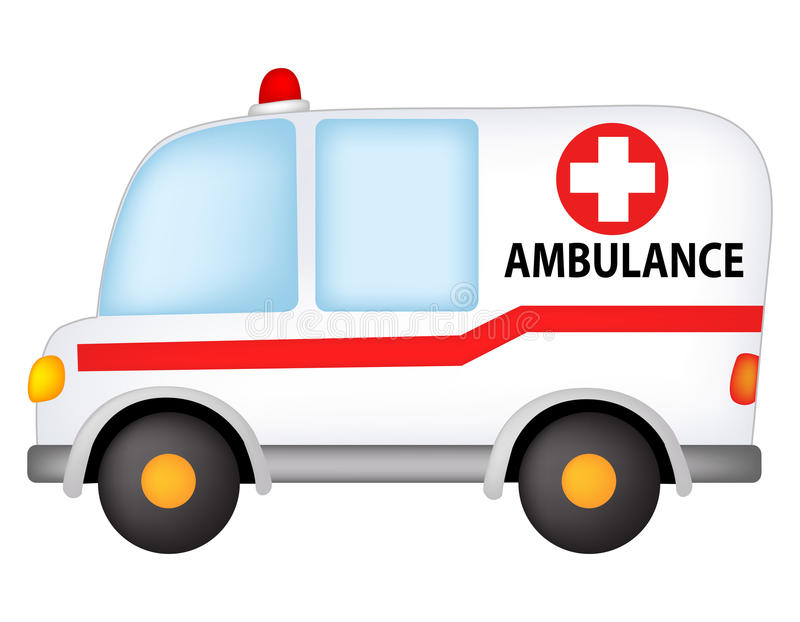 Ambulance. Illustration of a ambulance isolated on white background royalty free illustration
